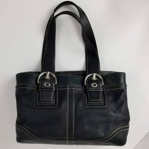 Coach Soho Black Leather Satchel